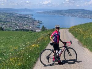 Mit dem Rennrad auf dem Etzel